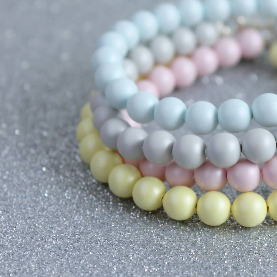 jewelry stackable b dark pastel uni glowies pearls glass glow unicorn products in the beaded bracelet