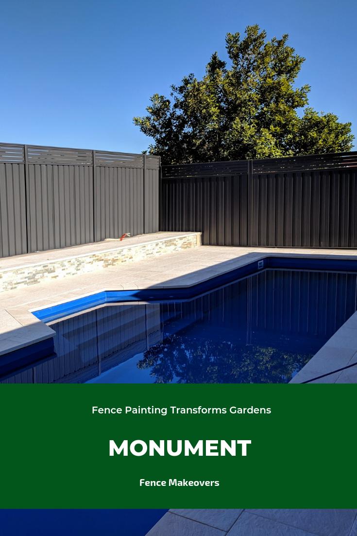 Monument Pool Landscaping Fence Paint House Landscape