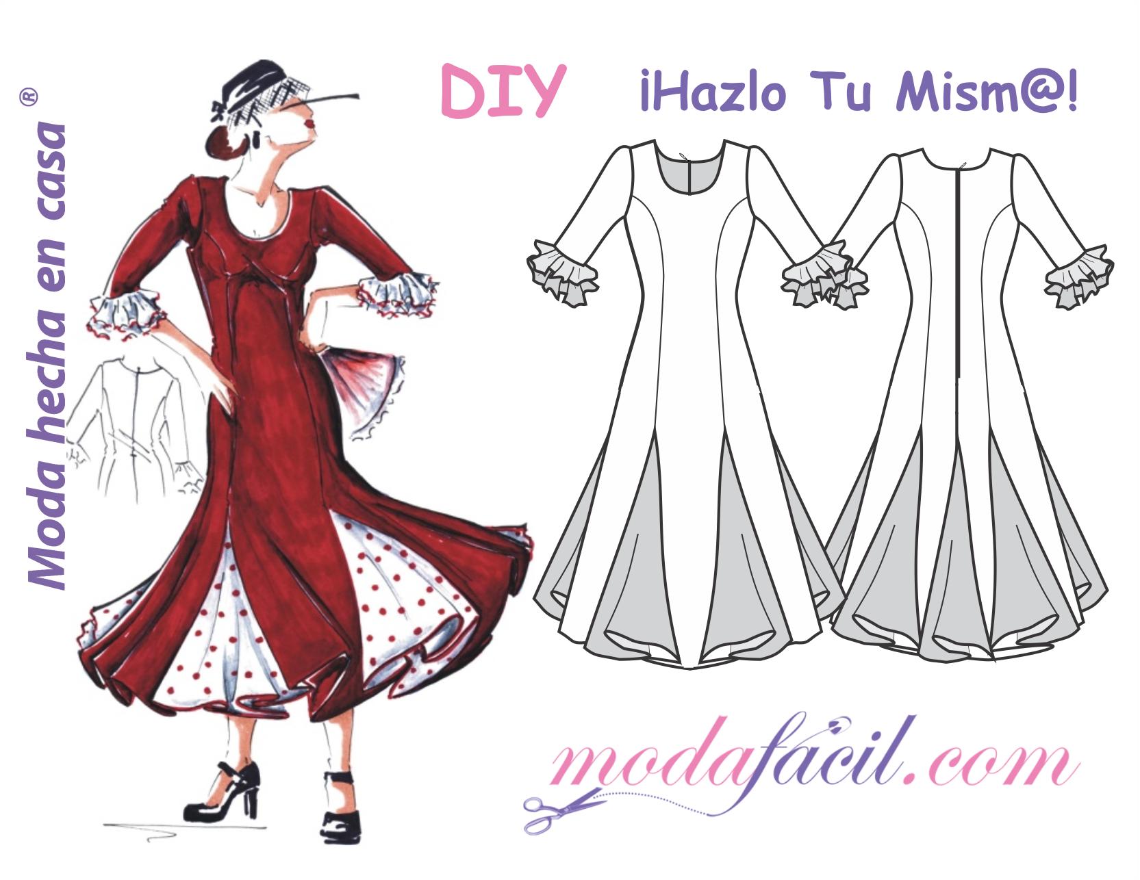 Descarga gratis los patrones del Vestido de Fiesta Flamenca ...