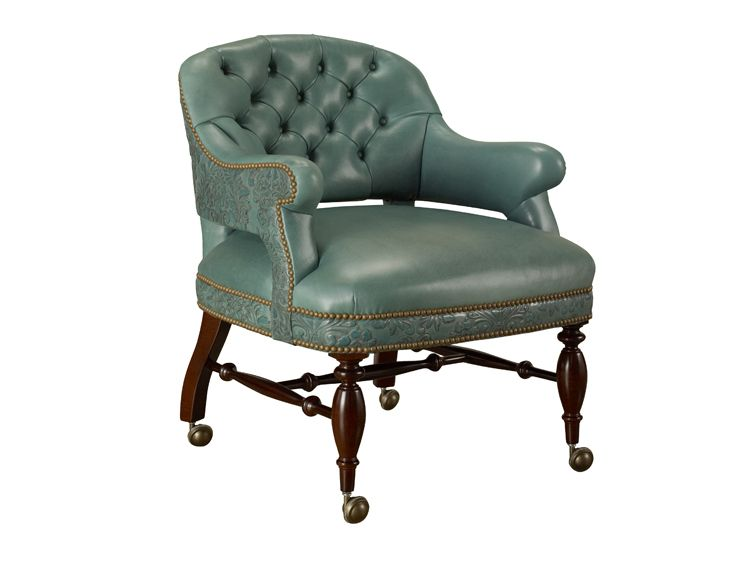 Captivating 279 18C Game Chair With Casters : Leathercraft Furniture