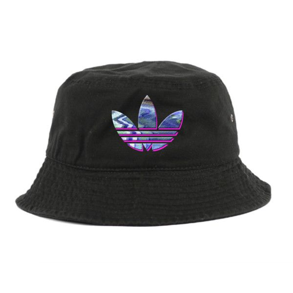 c5c67a590f0 Rare Retro Adidas Bucket Hat ( 35) ❤ liked on Polyvore featuring  accessories