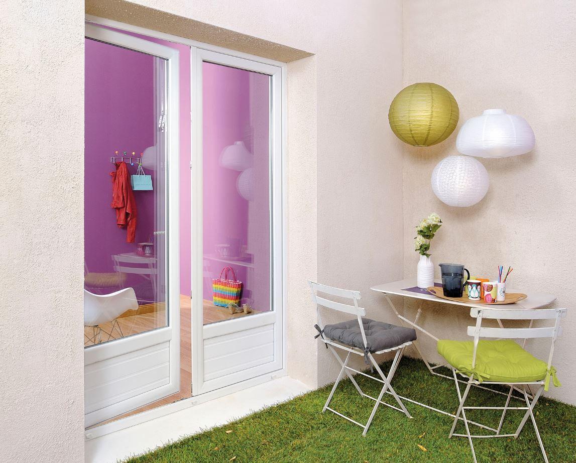 Puerta de PVC para terraza en color blanco. | Puertas | Pinterest ...