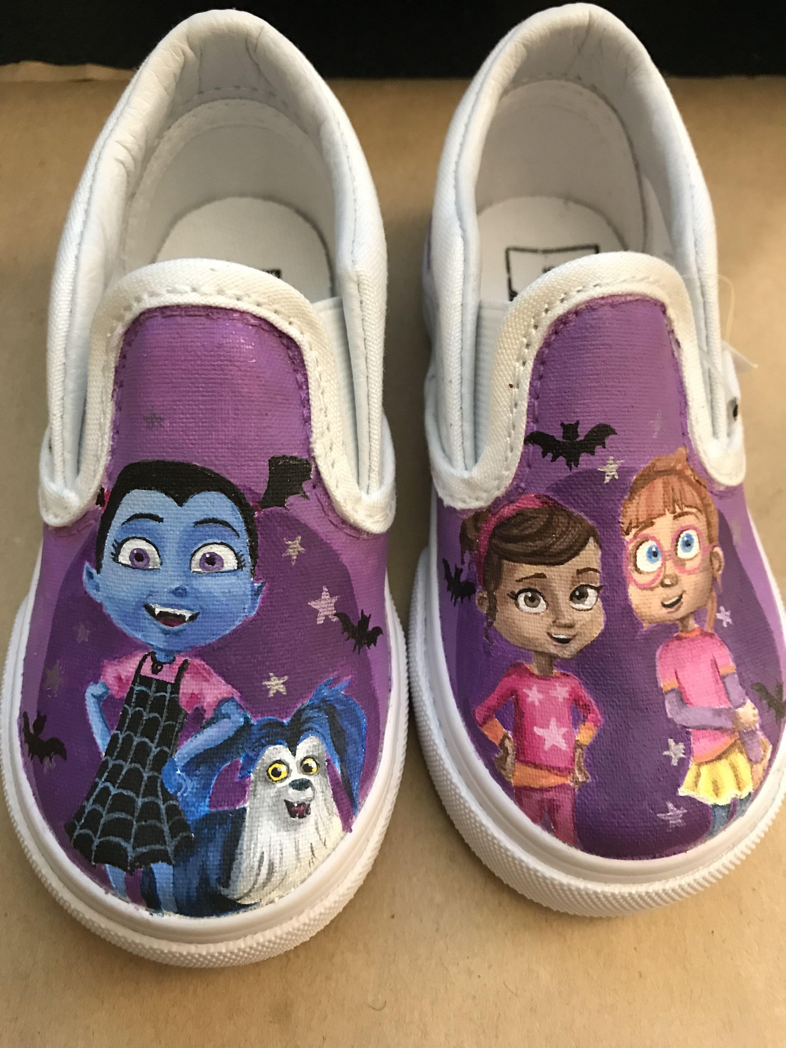 d5e014455b78 Custom Disney Vampirina vans! Toddler shoes hand painted for a repeat  customer!