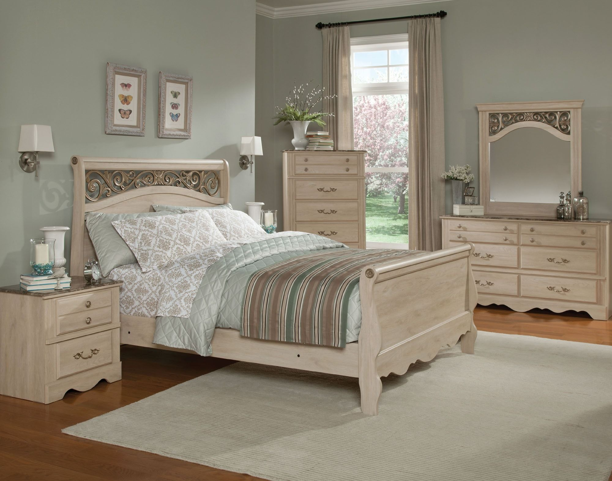 Torina Sleigh Bedroom Set Standard Furniture Home