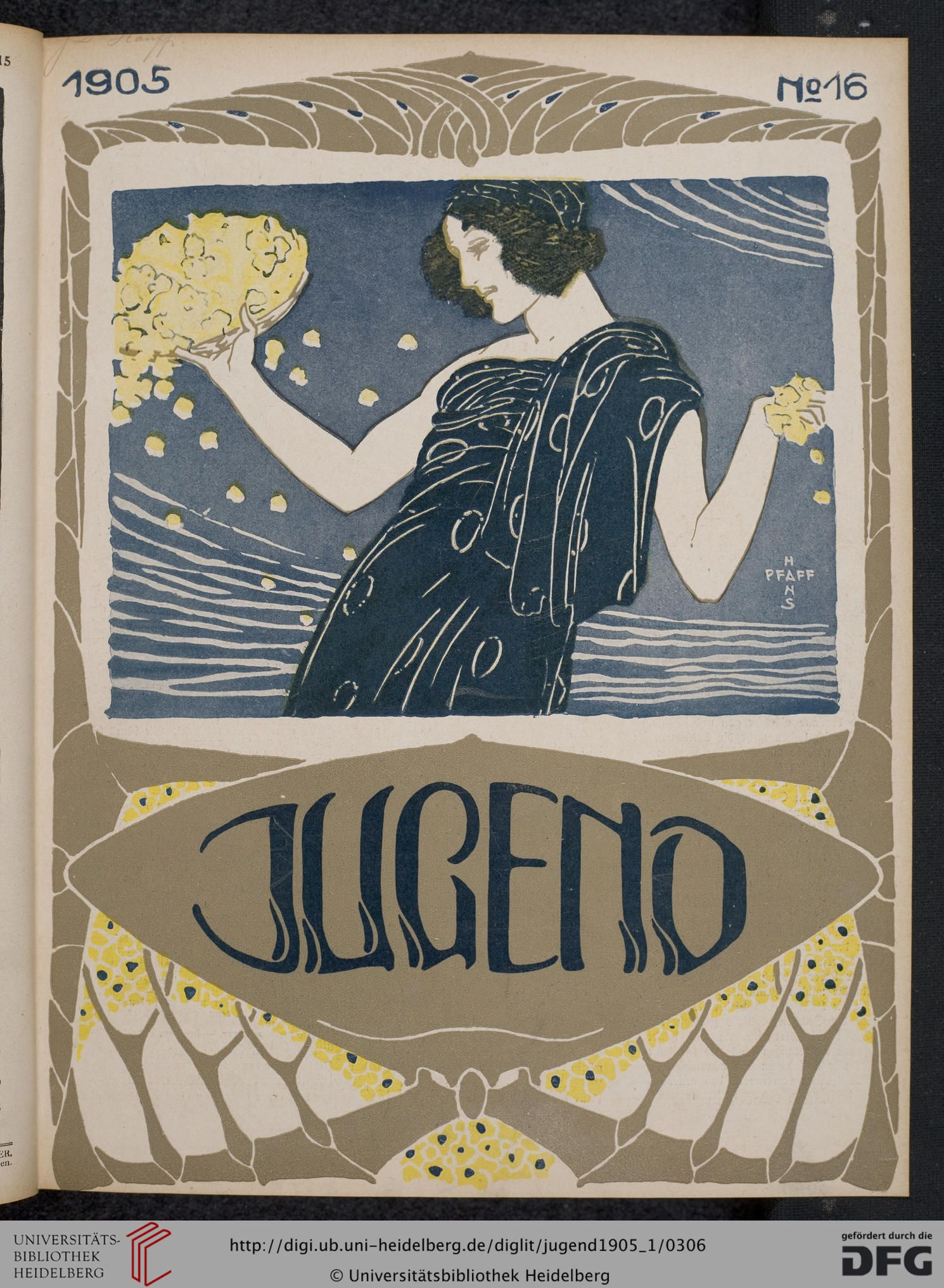 Jugend, German illustrated weekly magazine for art and life, Volume 10.1, 1905.