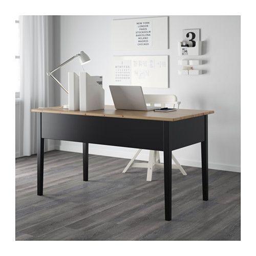 ARKELSTORP Desk Black 140x70 cm Bureau ikea Desks and Bureaus