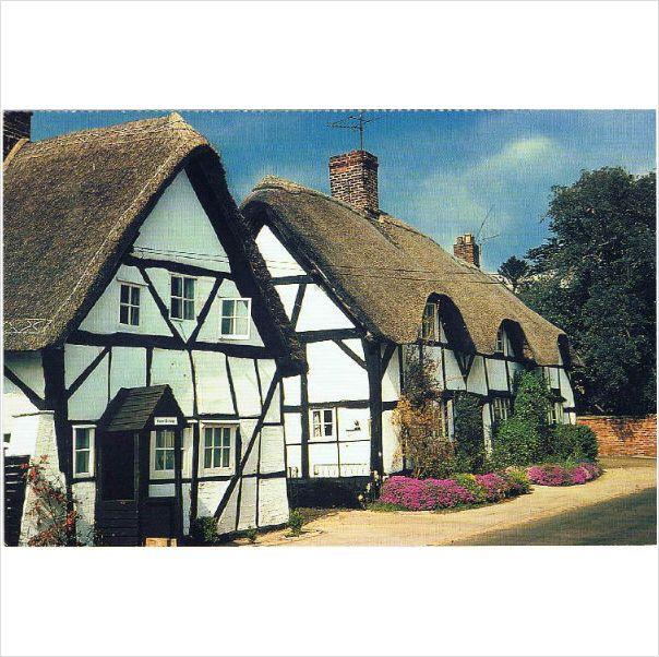 Thatched cottages at Cropthorne - a W.I. calendar/ #postcard on #eBid United Kingdom