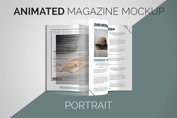 animated magazine mockup portrait by wowproduction on
