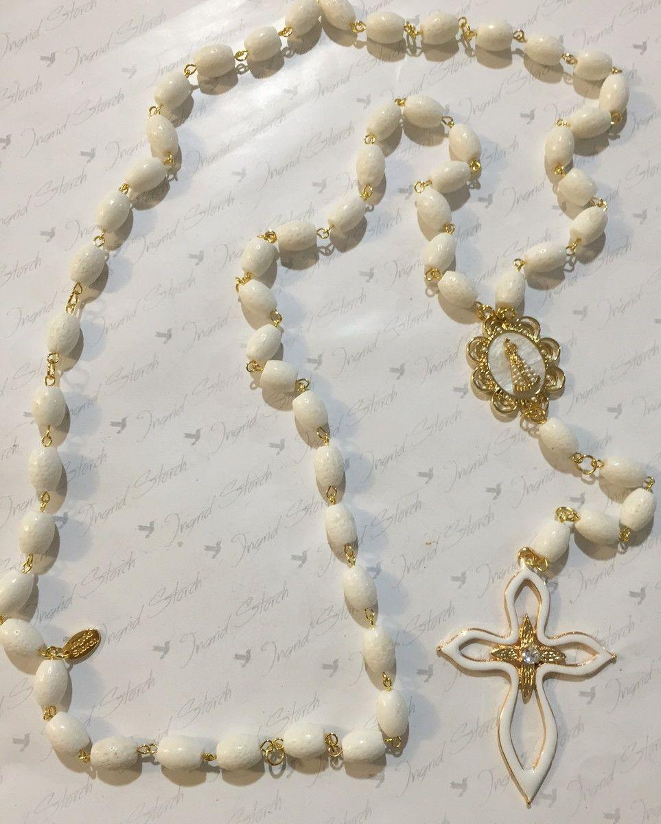 Rosary celebração de aparecida prayer beads and beads