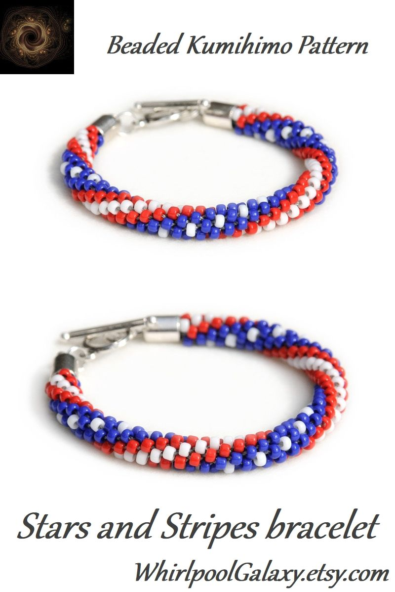 Pdf Beaded Kumihimo Pattern Stars And Stripes Kumihimo Etsy Kumihimo Patterns Kumihimo Kumihimo Bracelets