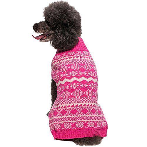 Blueberry Pet 12-Inch Holiday Season Fair Isle Dog Sweater, Medium ...