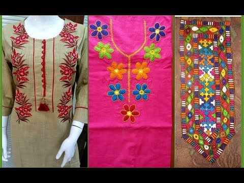 Neck Embroidery Designs For Suit Kurti Embroidery Neck Design Ideas