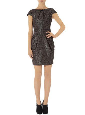 Grey jaquard lampshade dress