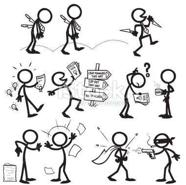 stickfigure confrontation sometimes people are bad for