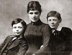 Jennie Jerome (1854-1921) of New York was married in the British Embassy in Paris to Lord Randolph Churchill in 1874. Lord Randolph was the second son of John Winston Spencer-Churchill, 7th Duke of Marlborough. And the mother of Winston Churchill.