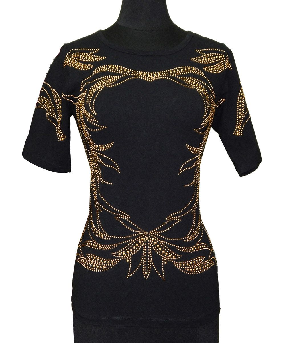 Black and gold filigree shirt