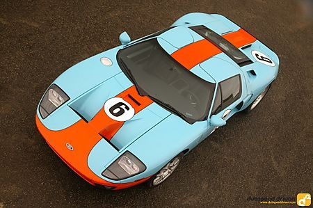 2006 Ford Gt Heritage Livery Evokes Glory Of Le Mans Victories Ford Gt Ford Gt40 Gulf Racing