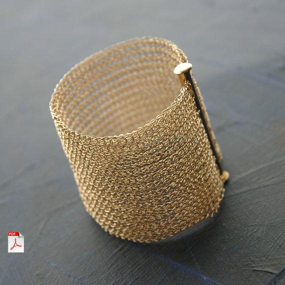 PDF pattern yoolacuff wide wire crochet cuff bracelet ebook ...