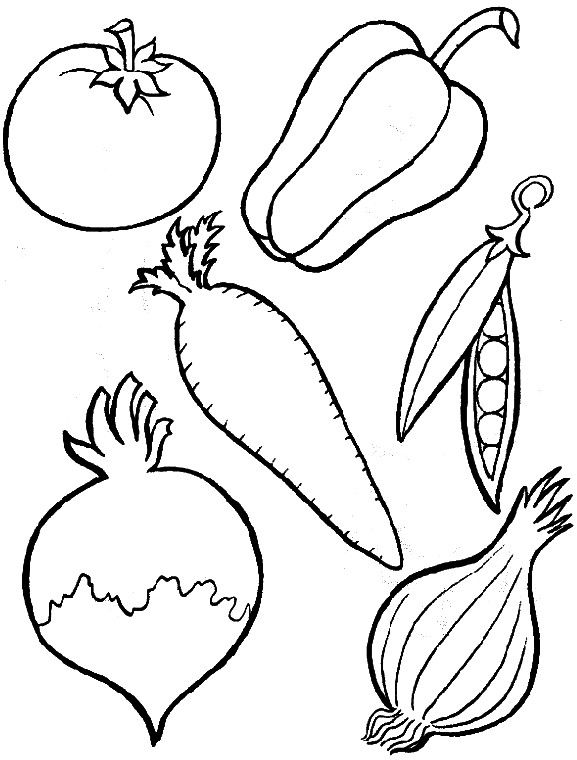 Pin by I T on Coloring - Fruits and Vegetables | Pinterest | Pre ...