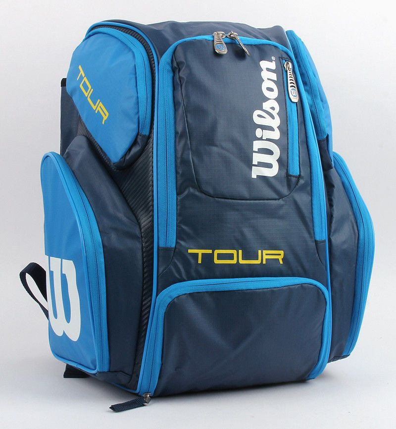 Wilson 2016 Tour V Racquet Backpack Tennis Badminton Bag Large Blue Wrz844696 Wilson Badminton Bag Badminton Shoes Large Bags