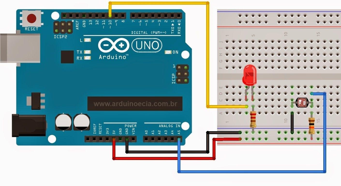 Circuito Arduino : Controle de luz com ldr e arduino arduino arduino