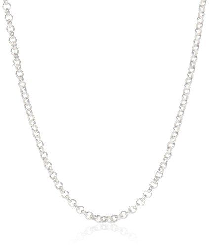 "Sterling Silver Rolo Chain Necklace, 24"" Amazon Collection http://www.amazon.com/dp/B00CYC6X0S/ref=cm_sw_r_pi_dp_6EgVvb05FYQQ3"