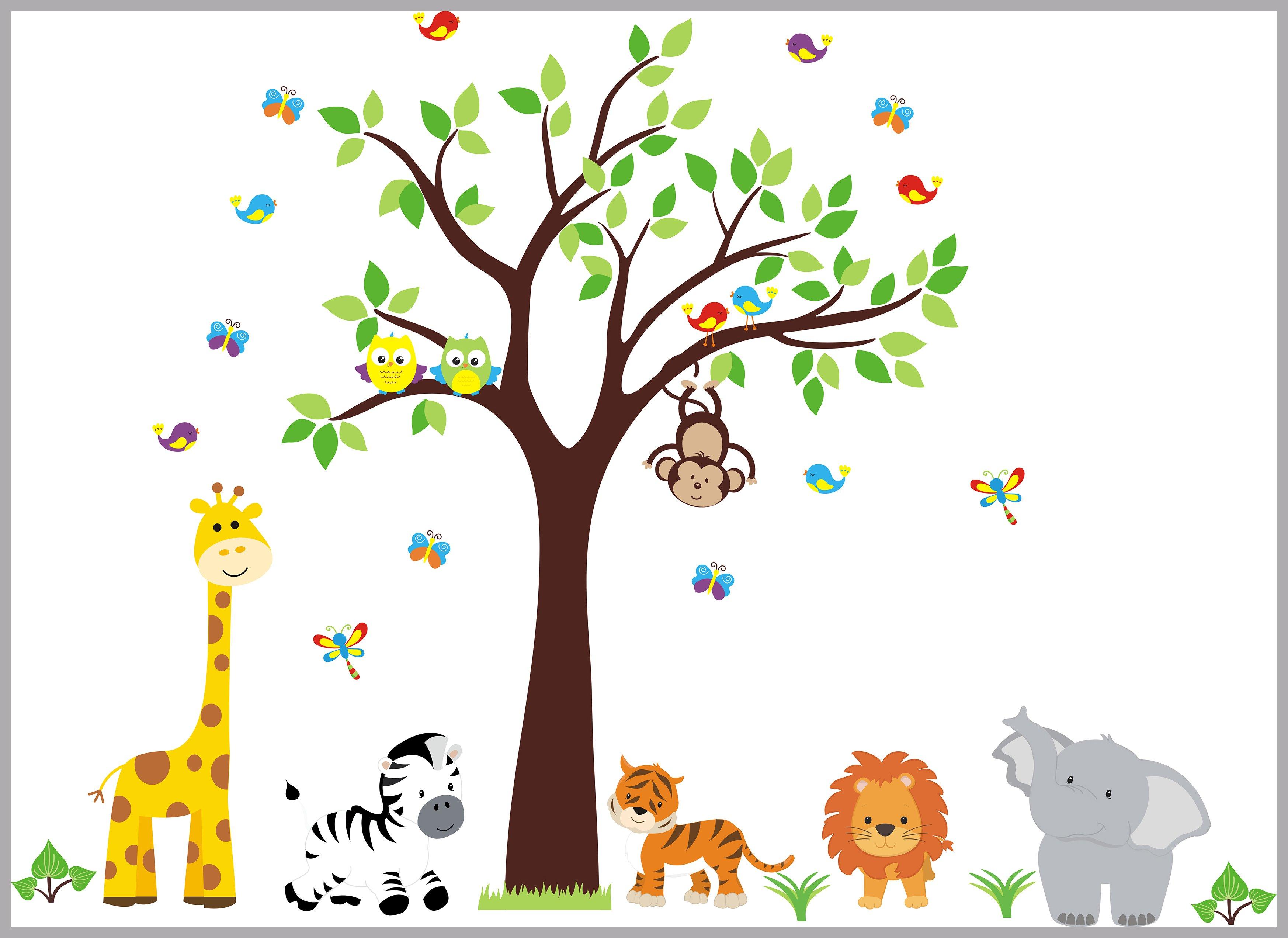 Nursery Wall Decal Jungle Decal Kids Wall Decal Kids Room