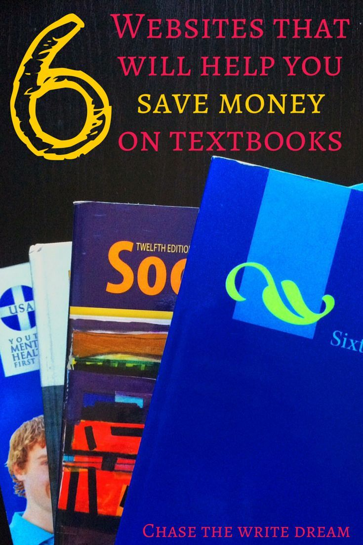 Wondering how to save money on textbooks? College students everywhere can use these six websites to get textbooks at a much lower cost than at the school bookstore. Just another money saving tip to help students reduce their debt! save money on textbooks #collegelife #studentloan