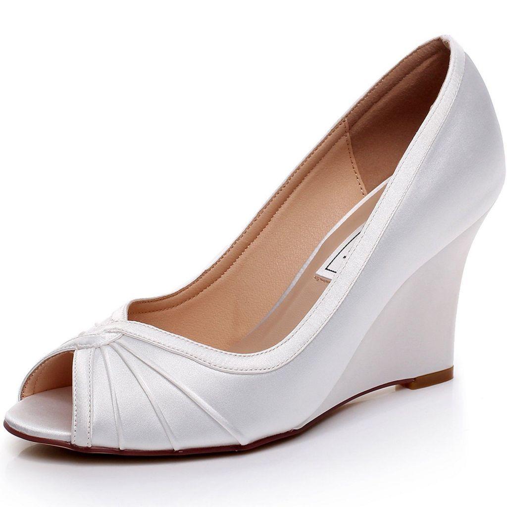 Wedding Shoes Jcpenney Ideas Satin Wedding Shoes Wedge Wedding Shoes Bridal Shoes Wedges