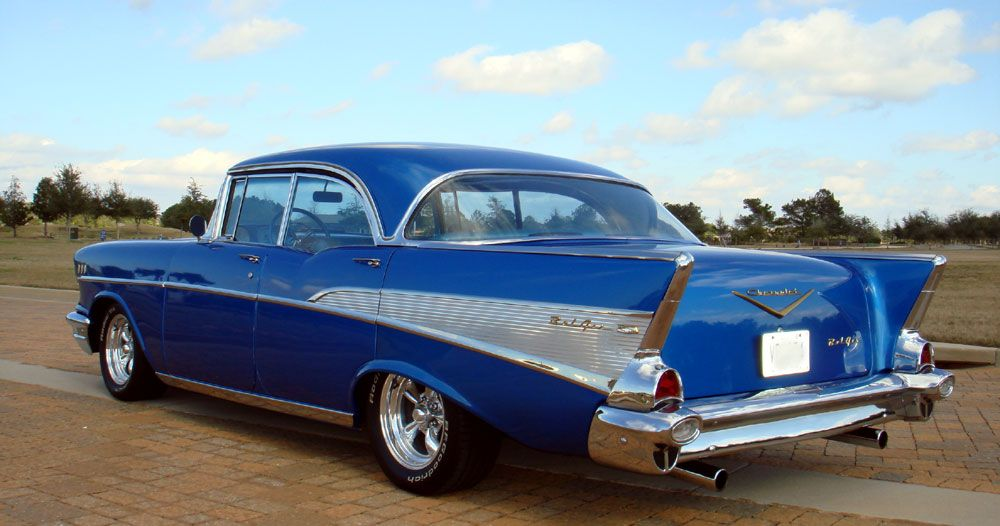 1957 Chevy Bel Air No Post Hardtop 350 V8 Auto A C 57 Chevy Bel