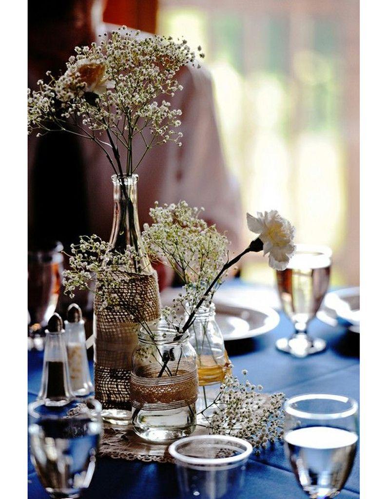 centre de table diy | mariage déco bocaux verre | pinterest