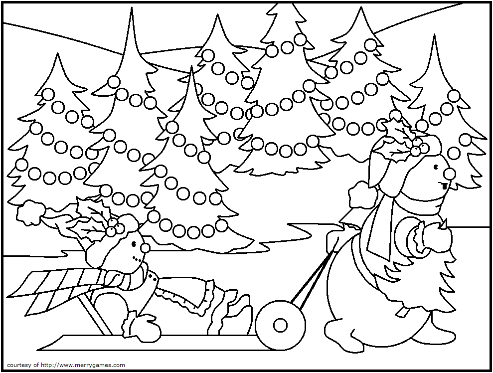 Christmas Ornament Coloring Pages   ... Toys FREE Printable Coloring ...