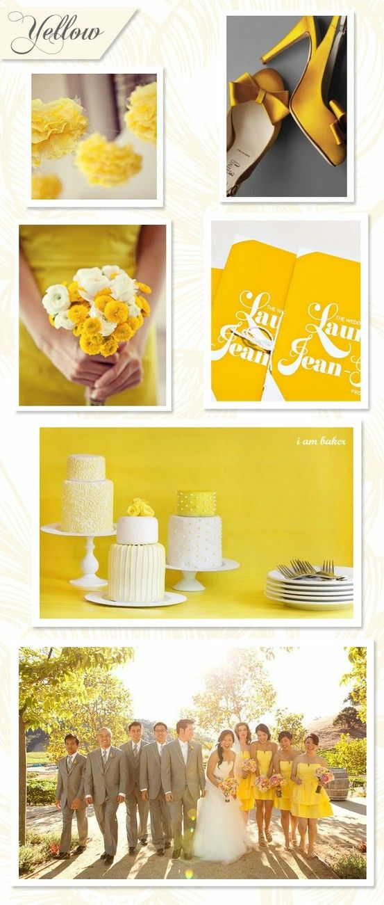 We recognize that the weather has cooled down, but that doesn't stop Joie de Vivre Weddings from planning ahead for the next season! Checkout this Brilliantly Bright yellow variation!