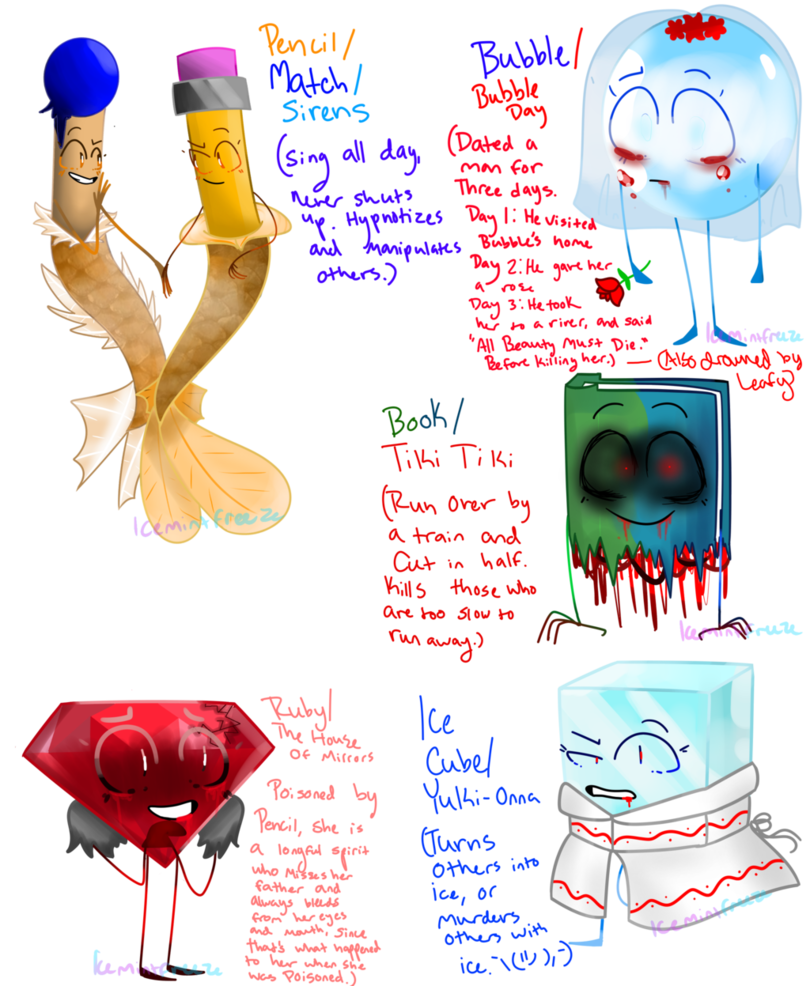 BFDI Monster au (3) by IceMintFreeze | My favourites | Art, Objects