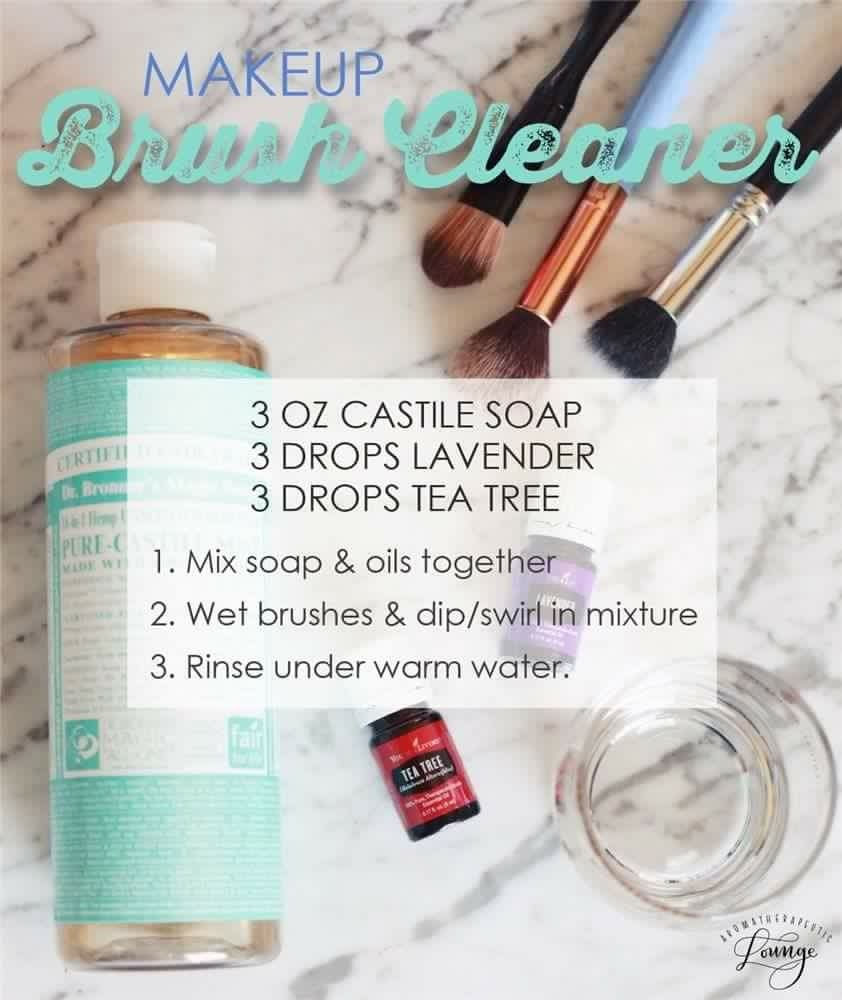 Natural makeup brush cleaner using Young Living Essential Oils ...