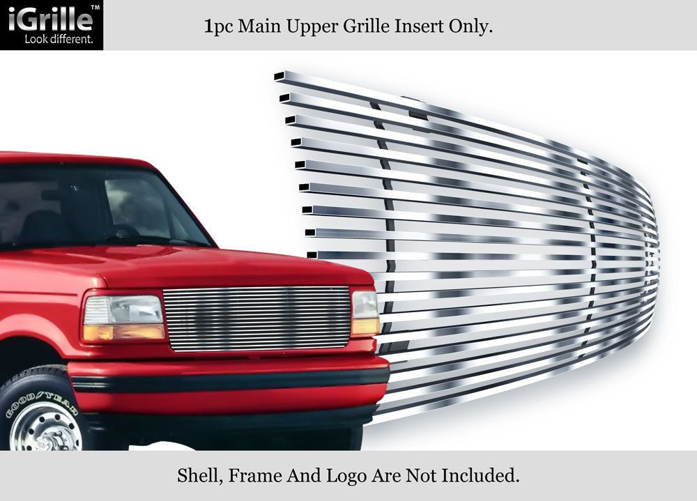 Premium 304 Stainless Steel Billet Grille 92 96 Ford Bronco F 150 F 250 F 350 Ford Bronco Bronco F250