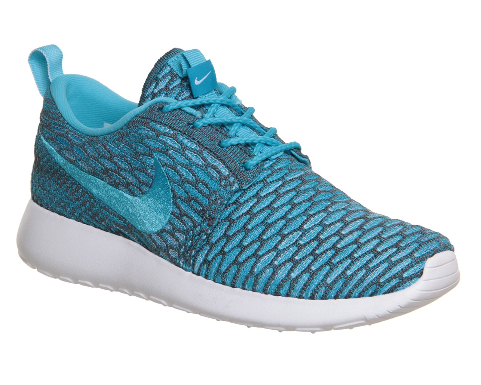Nike Roshe Run Flyknit Green Grey Trainers