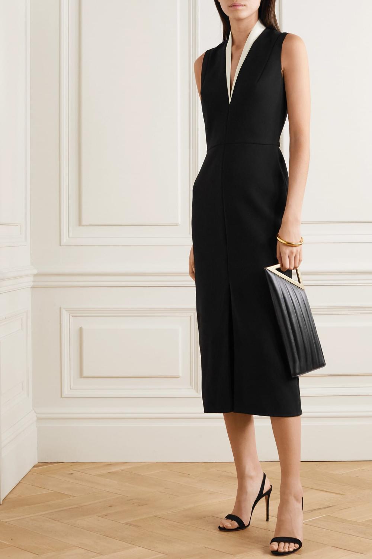 Victoria Beckham Plunging Neck Crepe Dress We Select Dresses Victoria Beckham Dress Victoria Dress Select Dress [ 1500 x 1000 Pixel ]