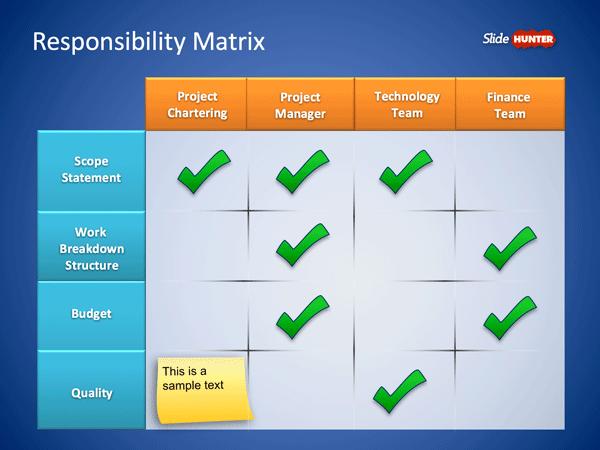 Roles responsibilities matrix powerpoint template is a simple roles responsibilities matrix powerpoint template is a simple matrix design that you can use to toneelgroepblik Gallery