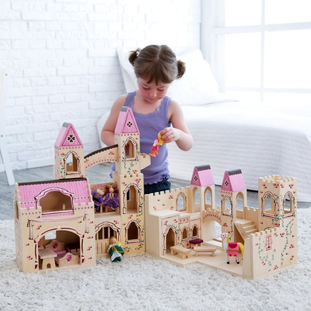 Melissa And Doug Folding Princess Castle Girls Toddlers Play Wood