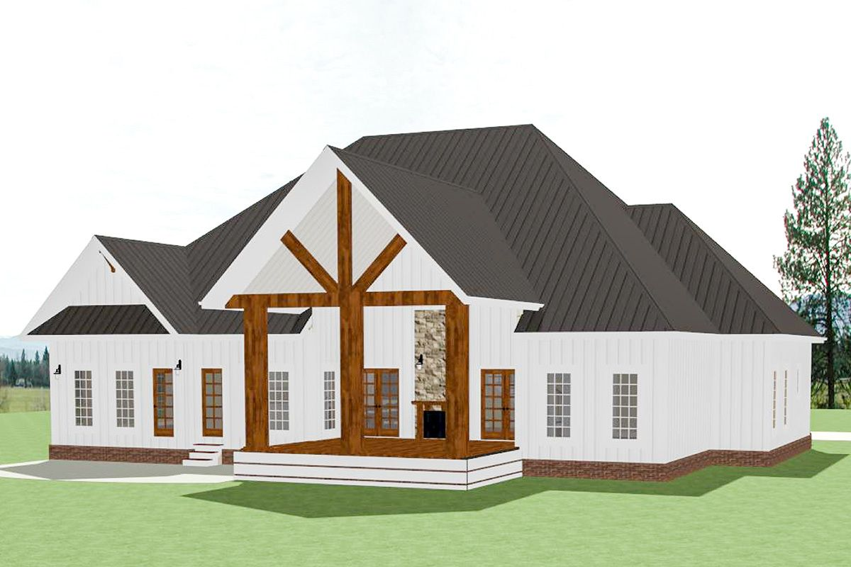 Plan 46368LA: Stunning 4-Bed Farmhouse Plan with First ...
