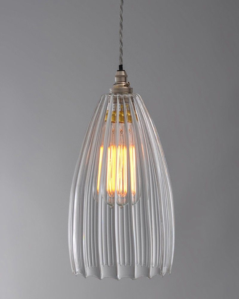 Contemporary Lighting, Upton Ribbed Glass Pendant