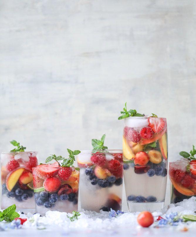 Rainbow Coconut Water Spritzers