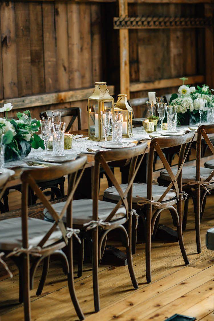 Wedding decorations barn  Donut Miss This Elegant Barn Wedding with Gold  Neutrals  Wine