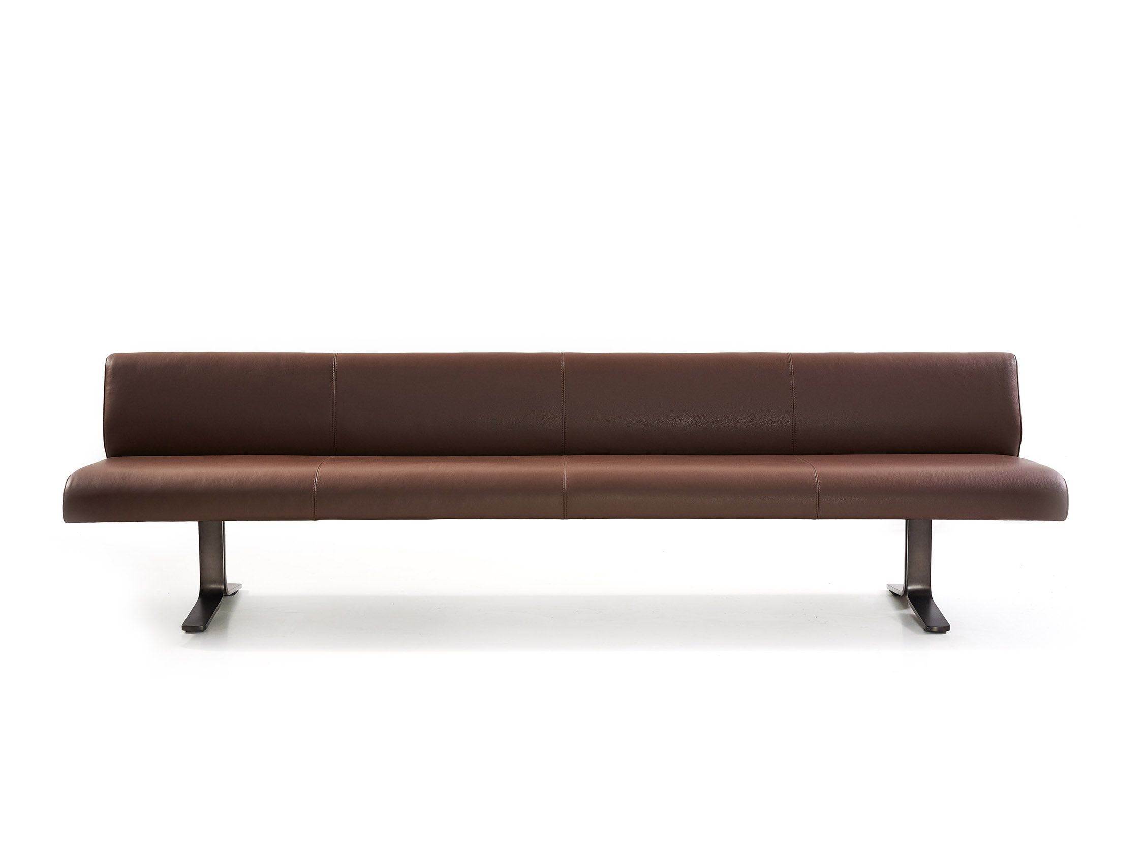 Uberlegen MOUNT Bench. Presented With An Ecological Leather And A Steel Frame Made Of  Anthracite Lacquered