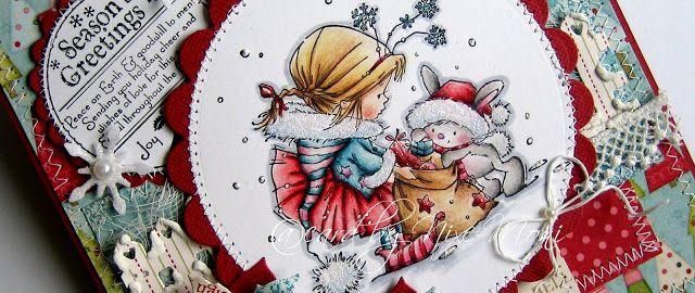 Nixe-Moni : Season´s Greetings ... Bunny Zoe´s Crafts Monthly Challenge #17
