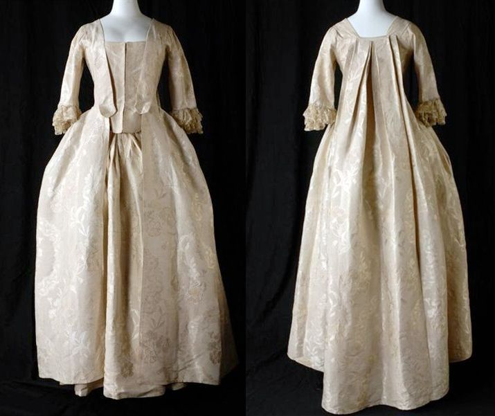 Watteau Gown, alo known as the sack-back gown. The loose box pleats ...