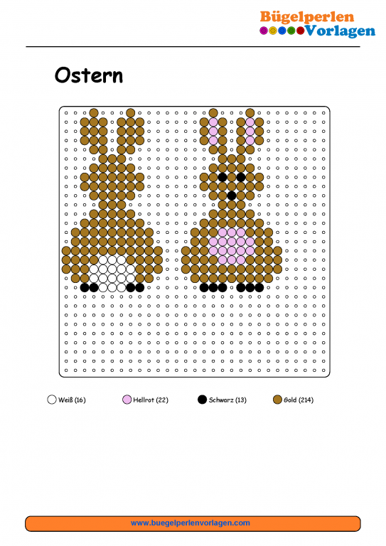 osterhase b gelperlen vorlage easter bunny perler bead pattern b gelperlenbilder pinterest. Black Bedroom Furniture Sets. Home Design Ideas