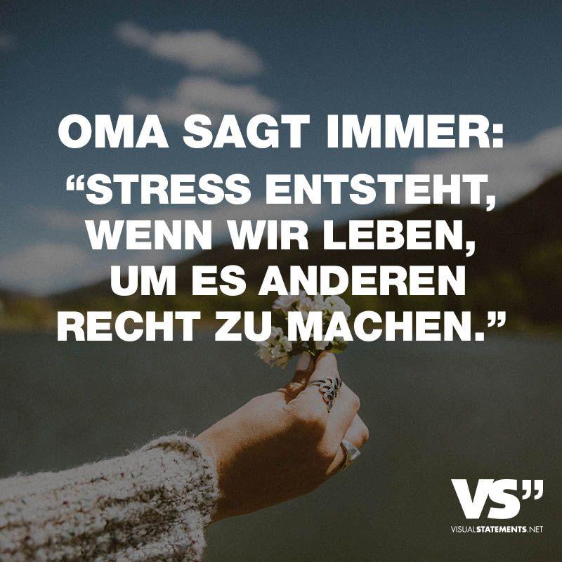 Oma sagt immer:
