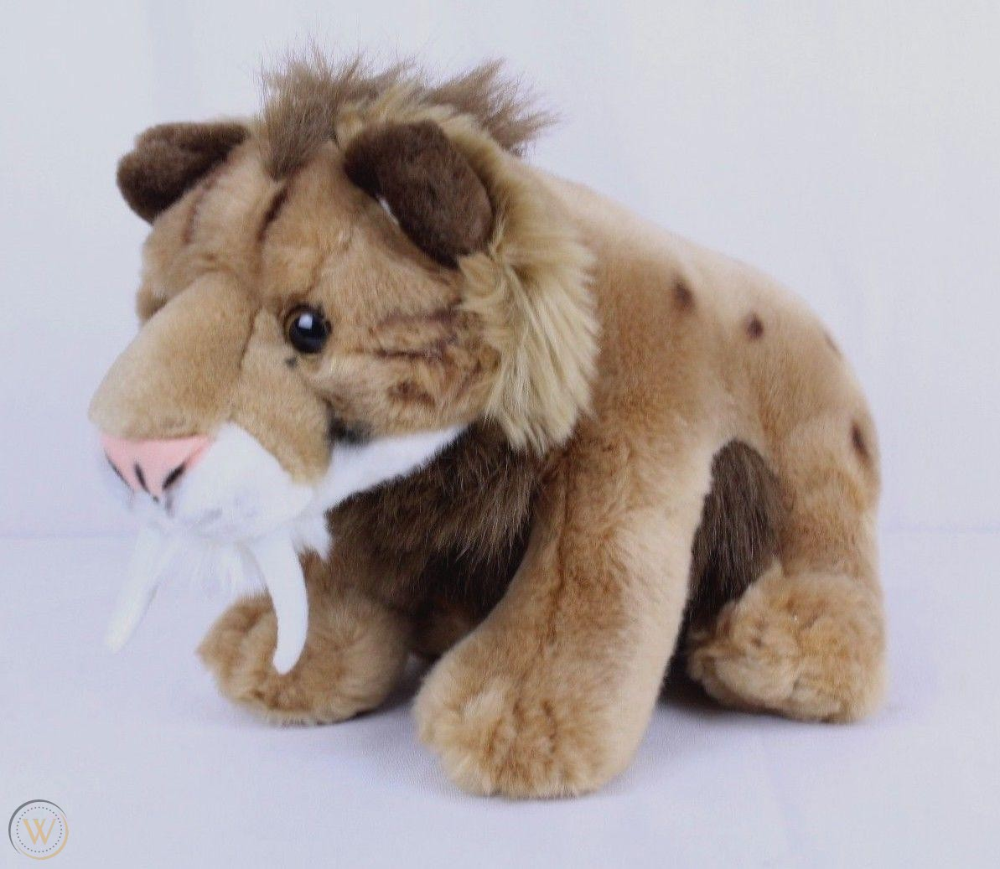 "Saber Tooth Tiger/ Smilodon Plush 12"" Wild Republic"